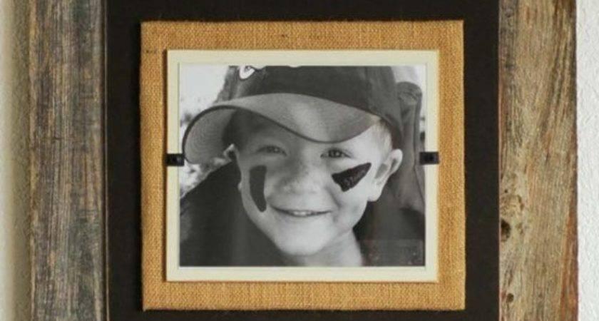 Burlap Pallet Wood Frame