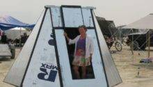 Burningman Foam Board Shelter Creative Ideas Elkins Diy