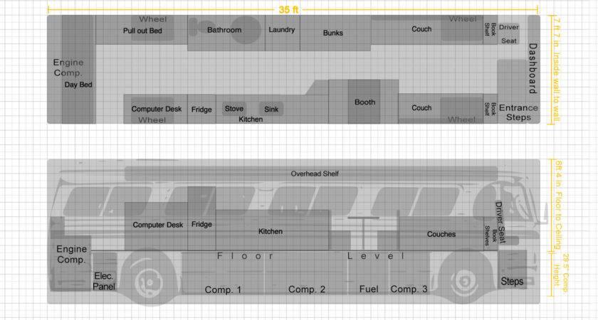 Bus Conversion Floor Plan Jolly Roger