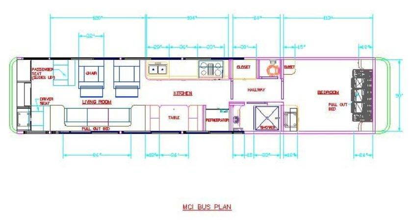 Bus Conversion Floorplans Find House Plans