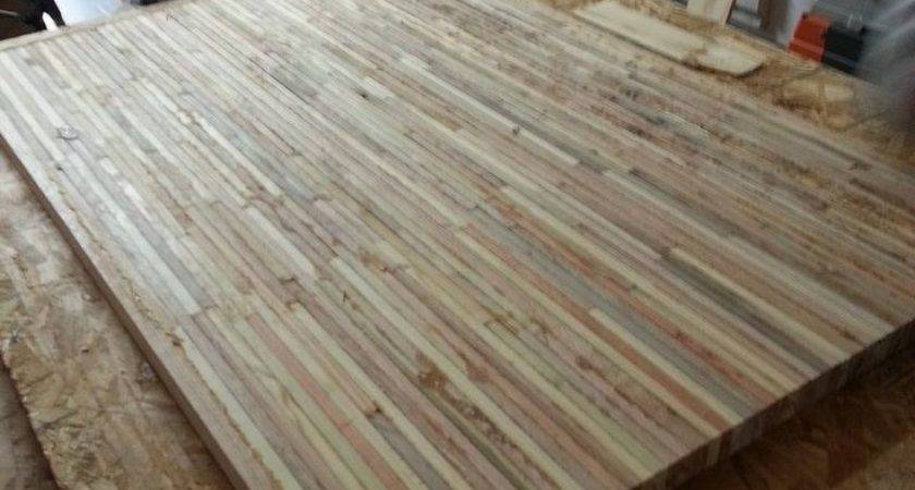 Butcher Block Counter Top Table Pallets