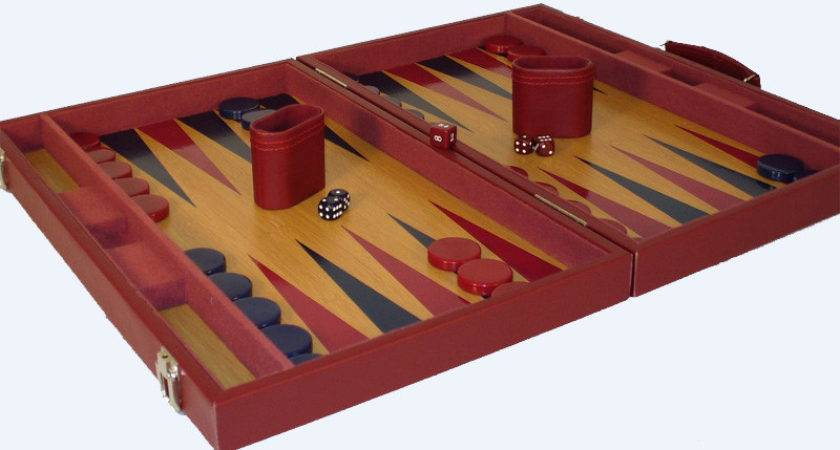 Buy Burgundy Tournament Attache Wood Backgammon Vinyl