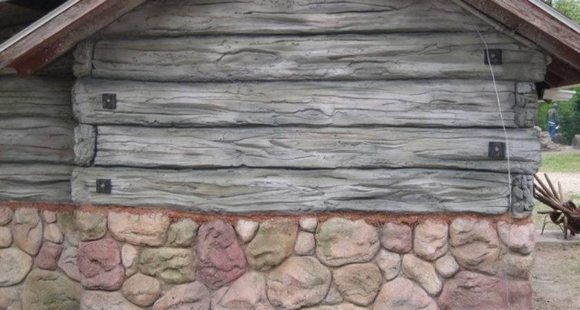 Cabin Refacing Siding Hand Carved Faux Wood Stone