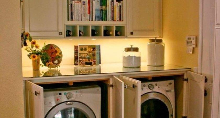 Cabinets Hide Washer Dryer Inside Cabinet