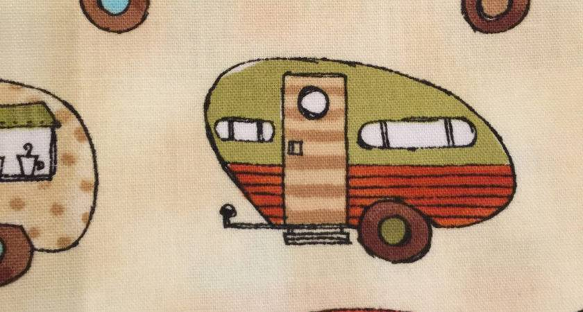 Camper Fabric Travel Trailer Vintage Robert Kaufman