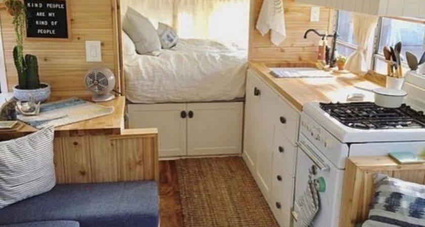 Camper Living Storage Ideas Interior Makeover