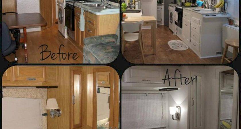 Camper Remodel Before After Spaces