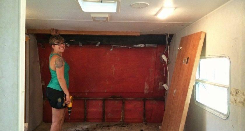 Camper Renovation Bedroom Remodel Wall