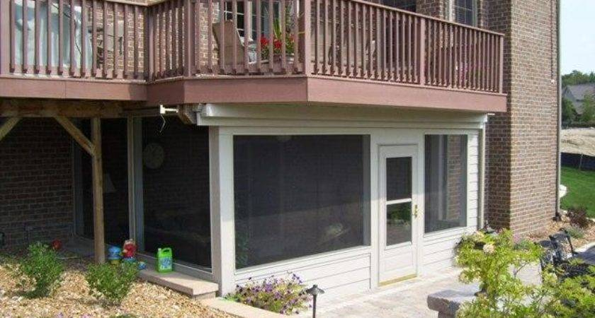 Canopy Design Charming Screened Deck
