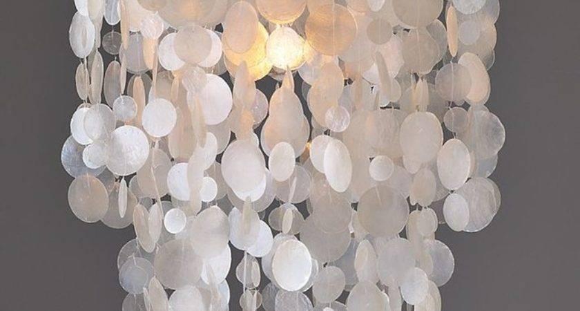 Capiz Round Pendant White Contemporary