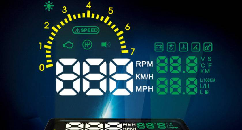 Car Hud Head Display Alarm Security System Obd