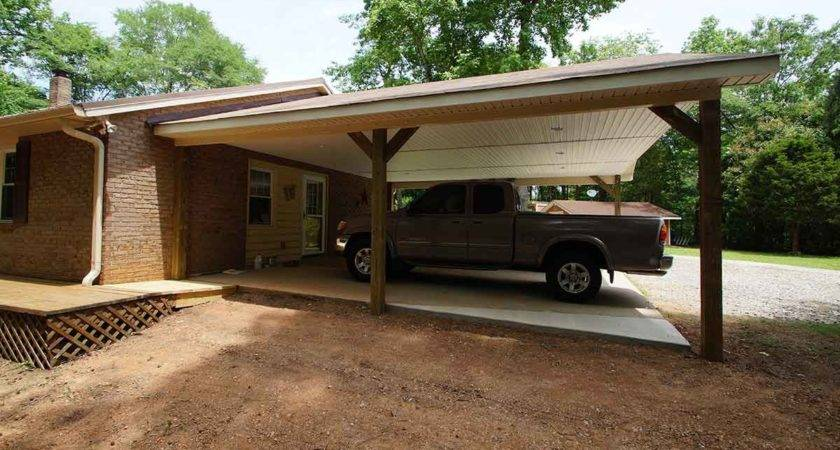 Carport Addition Creating Usable Space Vehicles