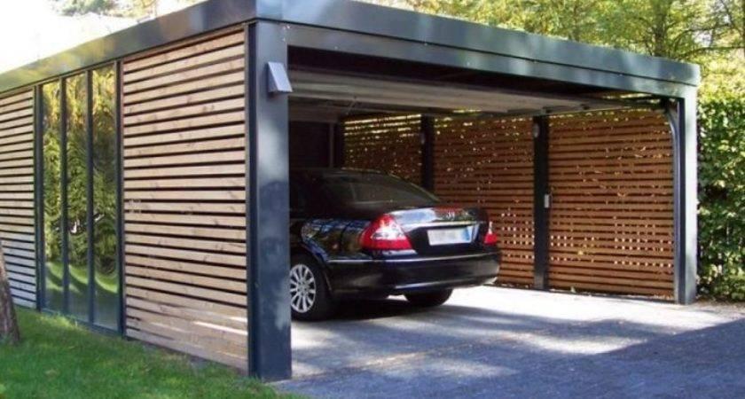 Carport Excellent Partially Enclosed Ingenuity Ideas