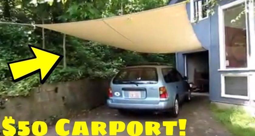 Carport Make Homemade Cheap Youtube