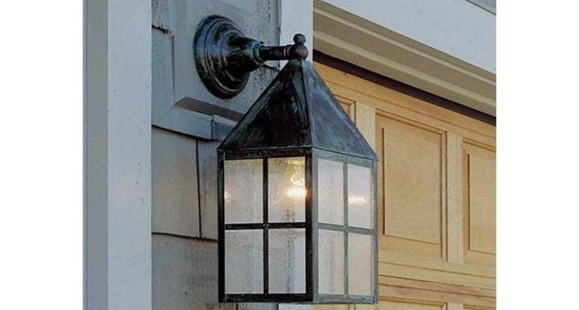 Carriage Lantern Wide Straight Arm Exterior Wall Light