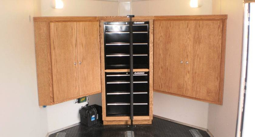 Carriages Enclosed Trailer Cabinet Options