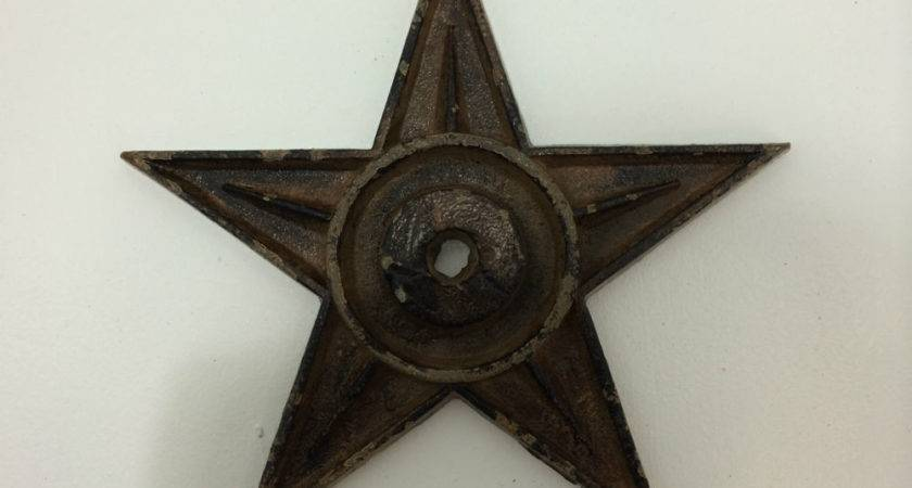 Cast Iron Metal Star Rustic Western Wall Decor