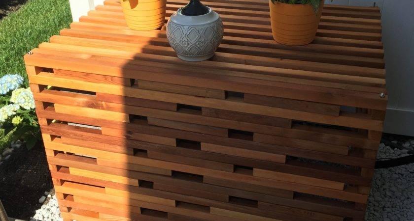 Cedar Air Conditioner Cover Decks Pinterest