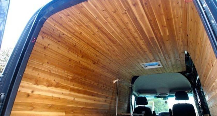 Cedar Paneling Van Interior