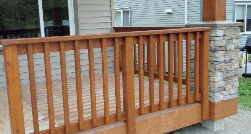 Cedar Porch Railing Designs