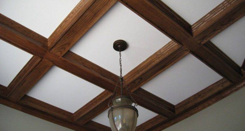 Ceiling Beams Ideas Painted Coffered Wood