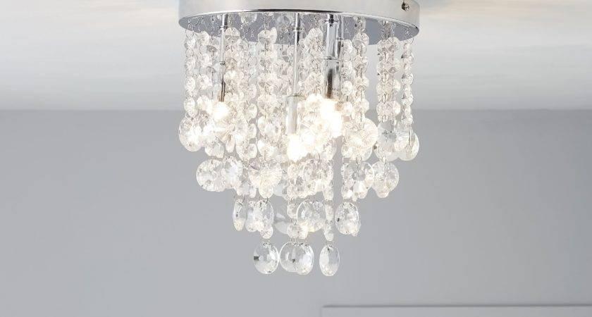 Ceiling Crystal Light Fixture Diy Home Lighting Ideas