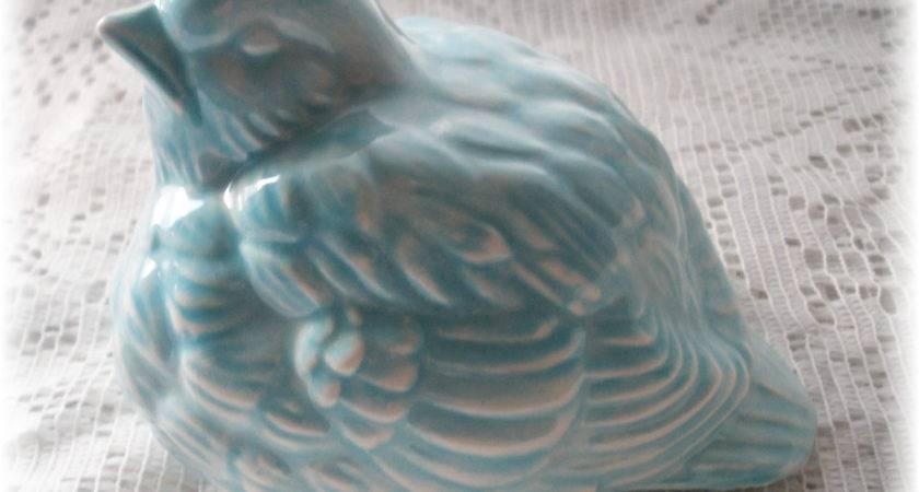 Ceramic Blue Bird Vintage Home Decor Design
