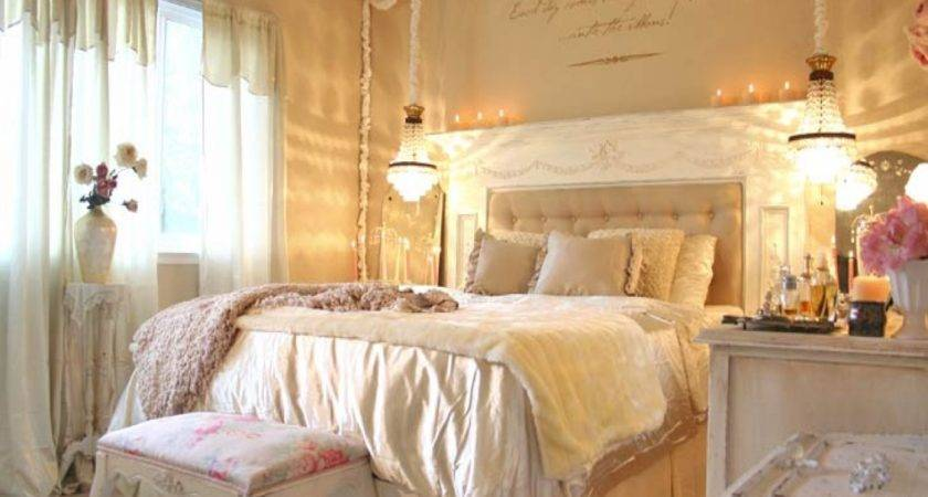 Chandeliers Bedrooms Ideas Shabby Chic Bedroom
