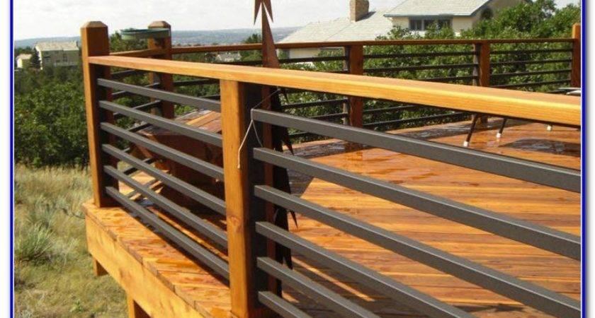 Cheap Deck Railing Ideas Decks Home Decorating