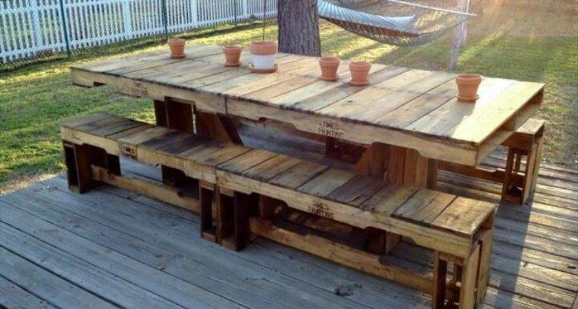Cheap Easy Pallet Outdoor Furniture Diy Make