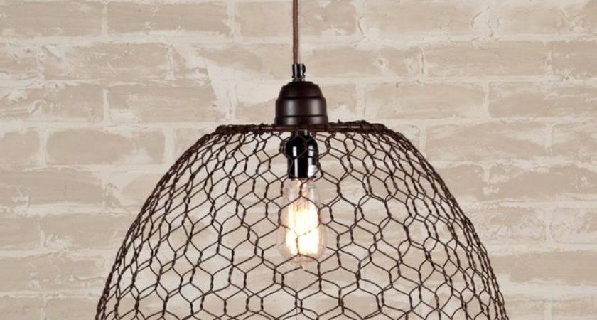 Chicken Wire Basket Pendant Light Lighting