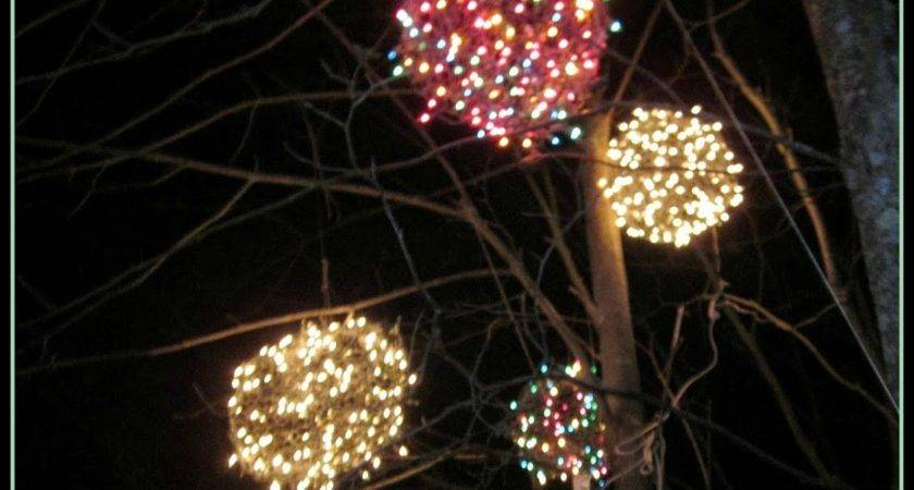 Chicken Wire Lighted Christmas Balls Tis Season