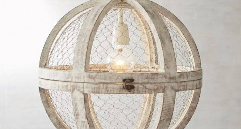Chicken Wire Pendant Light Basket