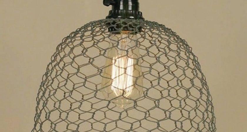 Chicken Wire Pendant Light Lighting Design Chandeliers