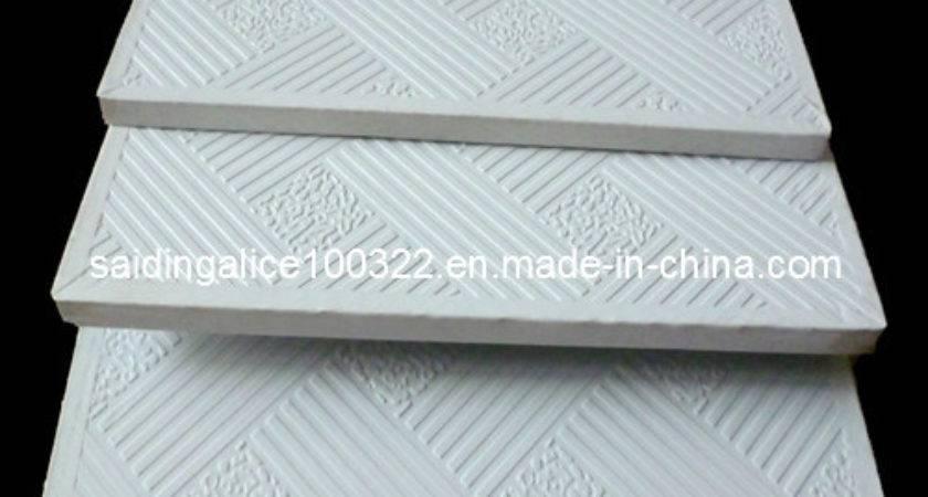 China Pvc Vinyl Coated Laminated Gypsum Ceiling Tiles