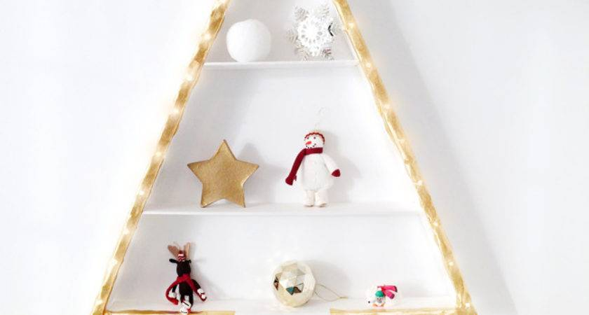 Christmas Tree Alternative Diy Wall Light
