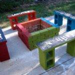 Cinder Block Bench Your Home Outdoor Beauty
