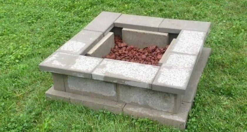 Cinder Block Fire Pit Diy Ideas Your Backyard