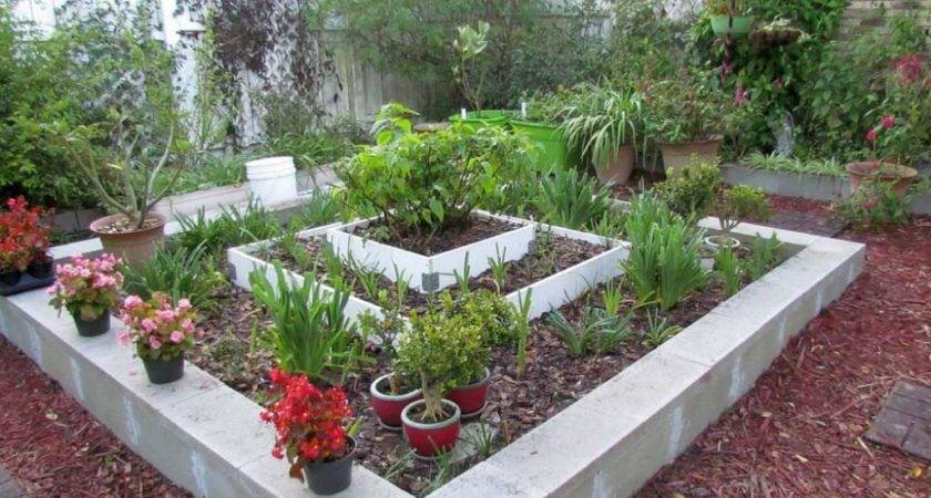 Cinder Block Garden Ideas Jbeedesigns Outdoor