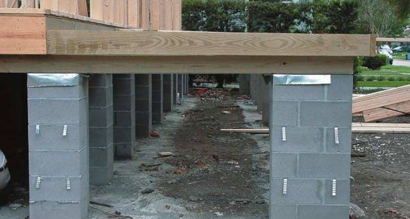 Cinder Block Piers Diy Home Design Furniture