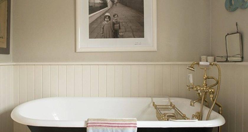 Classic Cottage Bathroom Wood Panelling Housetohome