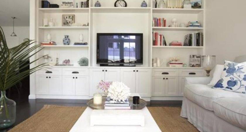 Classic Living Room Storage Furniture Ideas White