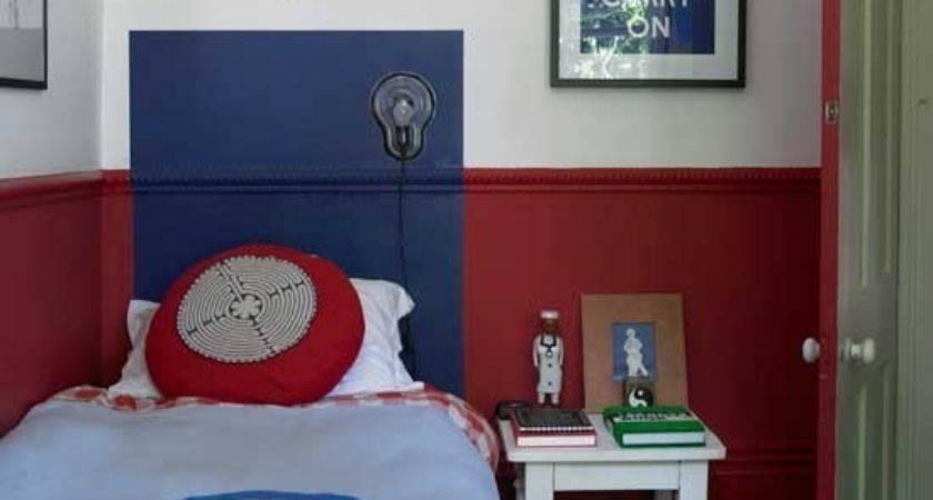 Classic Red Blue Boys Bedroom Ideas