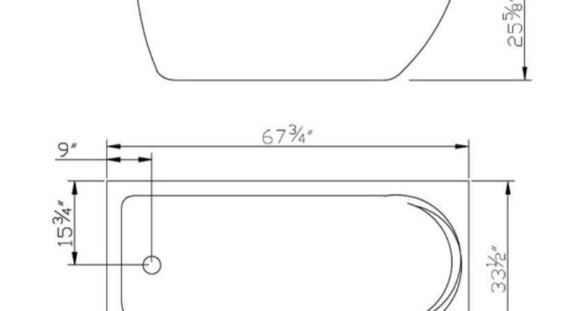 Clawfoot Tub Inch Acrylic Classic