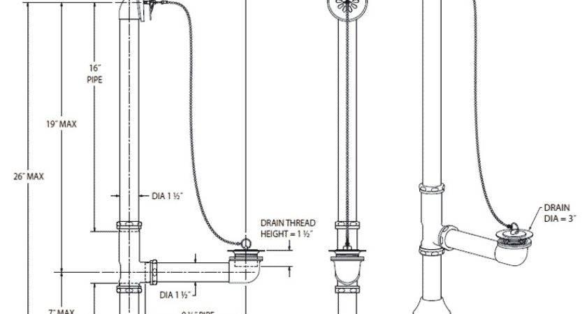 Clawfoot Tub Plumbing Diagram Piping