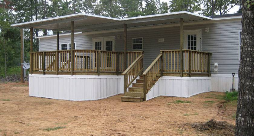 Clean Mobile Home Steps Decks Exterior Area