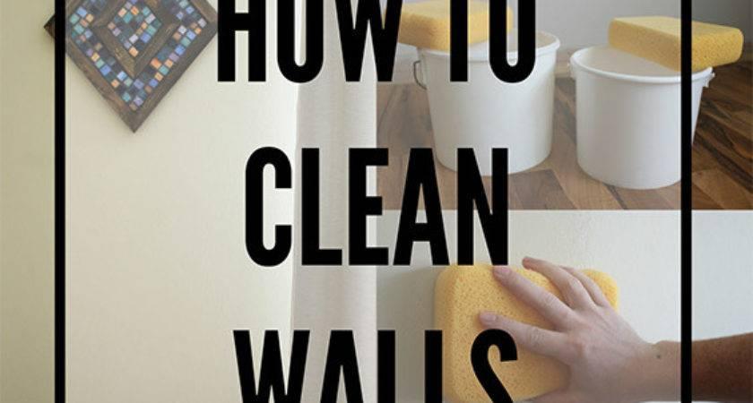 Clean Walls Preparing Painting