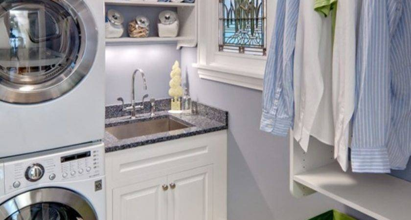 Clever Small Laundry Room Storage Organization