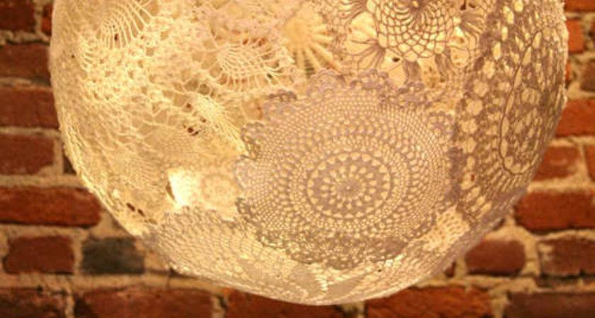 Clouds Inspiration Doily Lamp