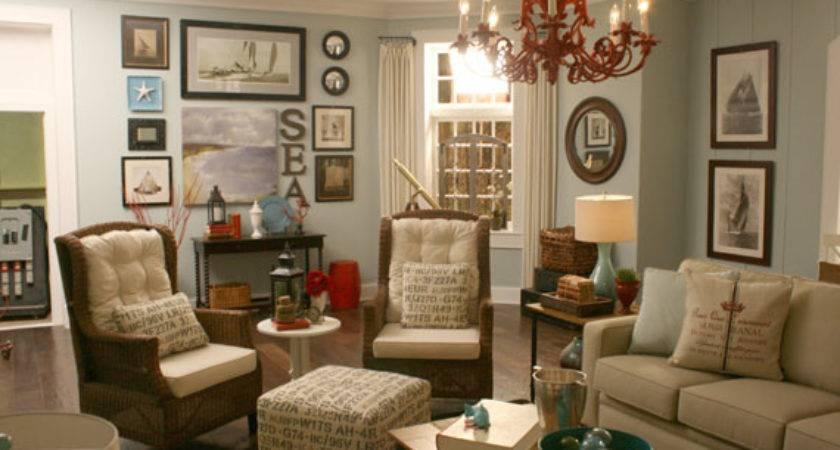 Coastal Inspired Living Room Interior Design Ideas